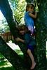 Lydia in tree with Torey Felton, Quakertown - 5 yrs old?