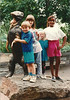 Cody Felton, Becky Wismer, Trudy, & Charlotte Ulle at the zoo.