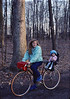 Trudy & Anna Lisa on bike, Sellersville PA, 1989