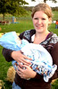 Trudy with new cousin Casen, Fall '09