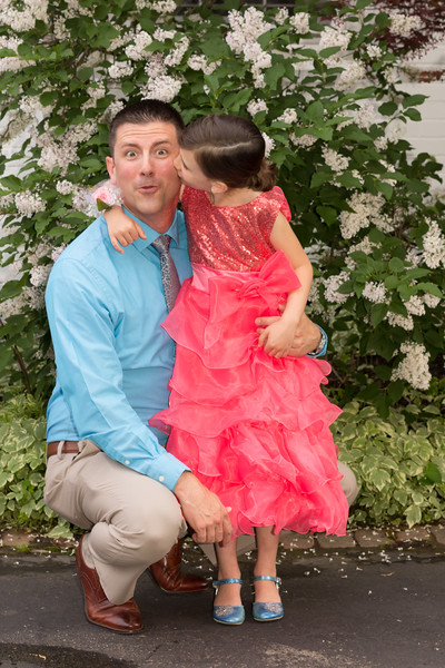 Kaia and Daddy heading to the Oakwood Daddy Daughter Dance