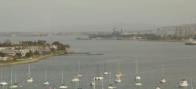 Scene from Coronado Island bridge