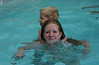 Trudy & Gray swimming in hotel pool