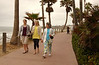 Chara, Lydia & Mom walking along Pacific Beach-- just a couple blocks from Chara's home