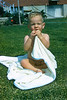 Baby Chris on Lawn with Blanket