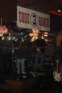Chris playing in band Code 3 Ranch. Heather is guest singer.