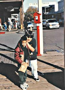 In Old Town Sacramento in December 1995.