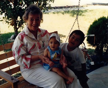 With Great Grandma in Banning.