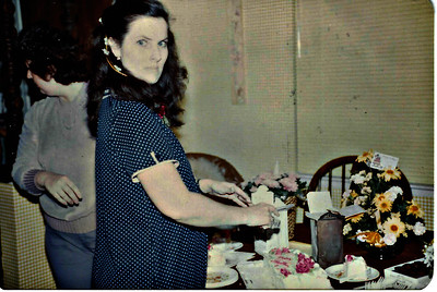 Len in January 1983 in Tulare.  She is pregnant with Michael.  Terry Sayre is behind her.