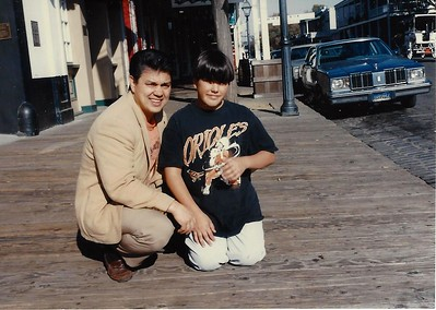 Dad and Mike in Old Town Sacramento in 1995.