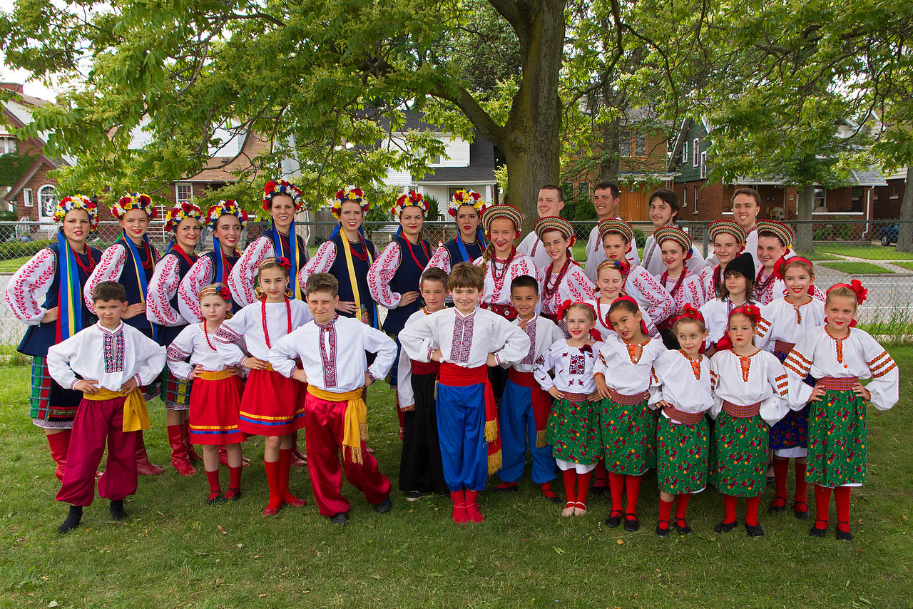 Members of Windsor's Barvinok Ukrainian Dancers Picture taken outside on Sunday afternoon