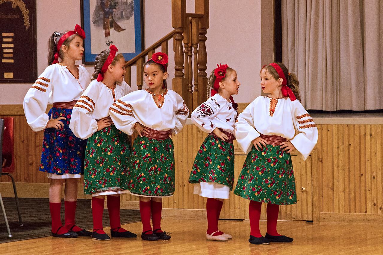 Junior Group of Windsor Barvinok Ukrainian Dancers all ready to go
