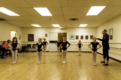 Christina and her ballet class
