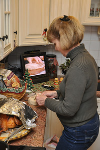 Mom Making the bree...mmmmmm but no jelly this year :(