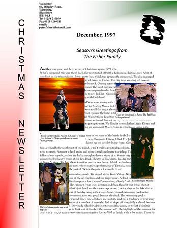 Christmas 1997 Fisher Family Newsletter
