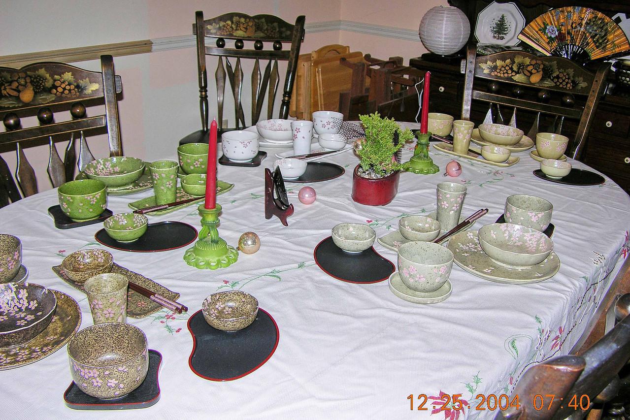Chrismas morning  - Japanese dinnerware