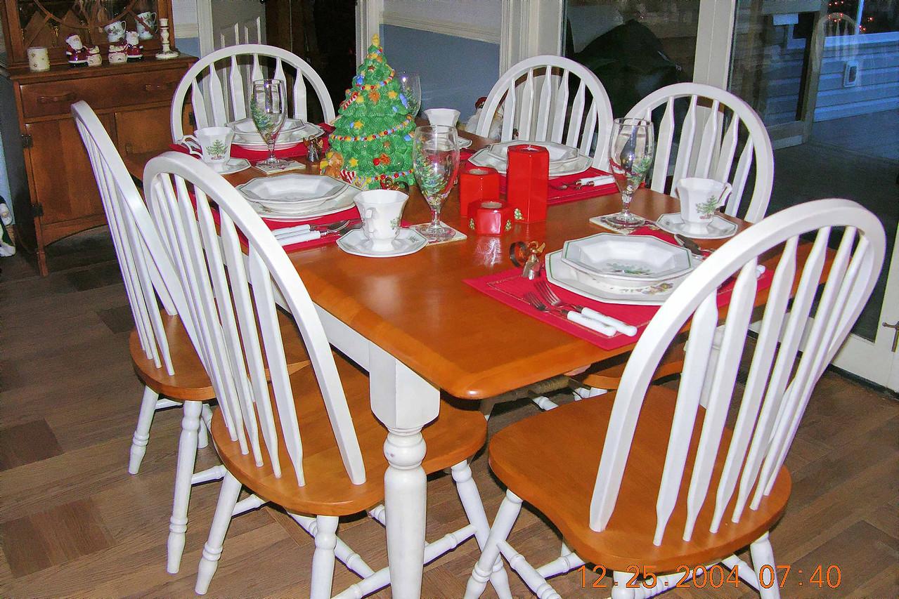 Christmas china & new table