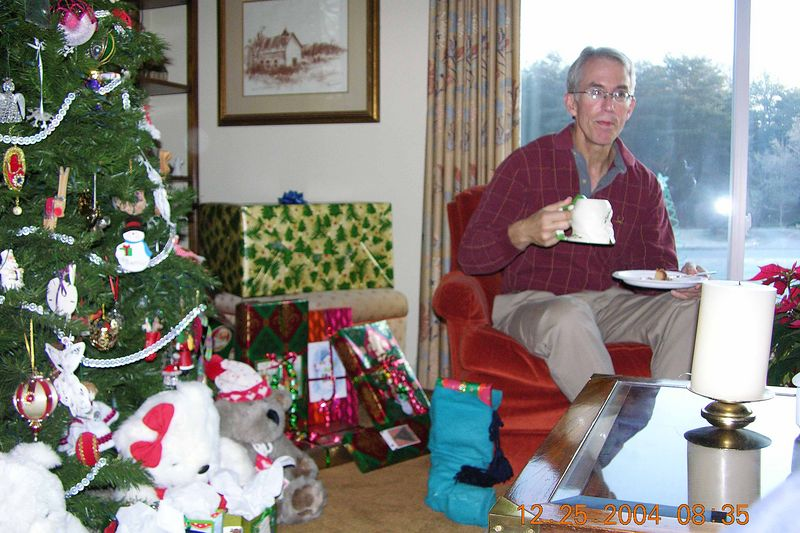 Christmas morning coffee before gifts