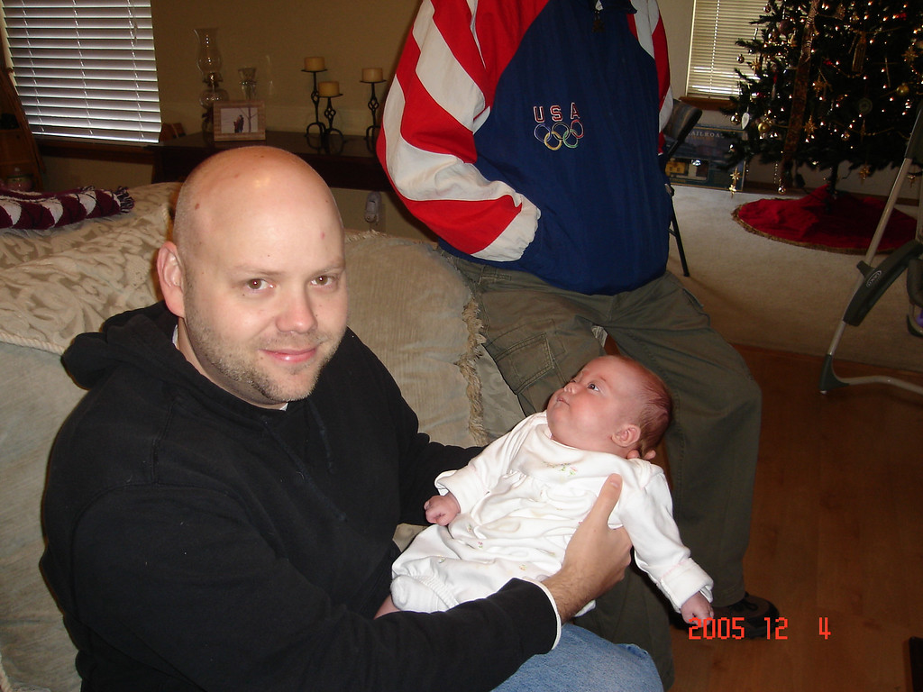 Nick and Jennifer's daughter Ryan. Dad, Cynda, Becky, and I went over for a vist. Photo taken in their new house in Owasso.