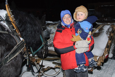 Christmas sleigh ride with Ciarnellos and Marco Giroux and Liam Giroux