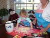 Camden made Christmas cookies with Nana.