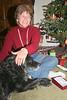 Christmas at Goodwood: Lynda with her sweetheart, Layla.