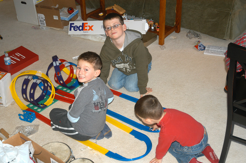 Jack, Ian & Michael with their racetrack