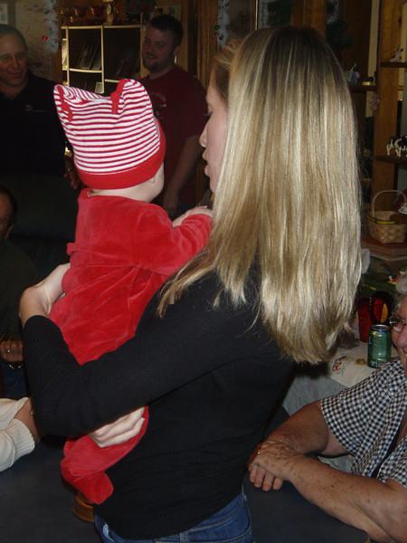 Kim with baby Allison