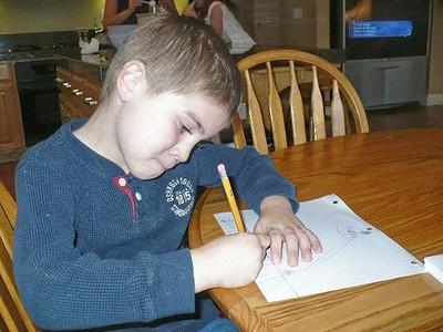 Evan is always drawing