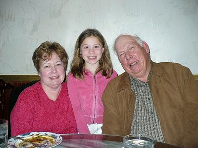Christiana with Grandma and Grandpa