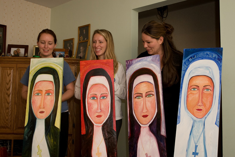 It's the three sisters and Mother Teresa