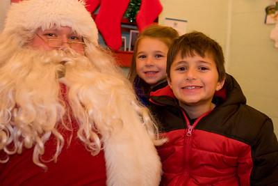 Santa, Madison and Brandon