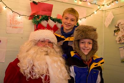 Santa, Nathan and Alex