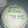 Yep, had to make my own cake!