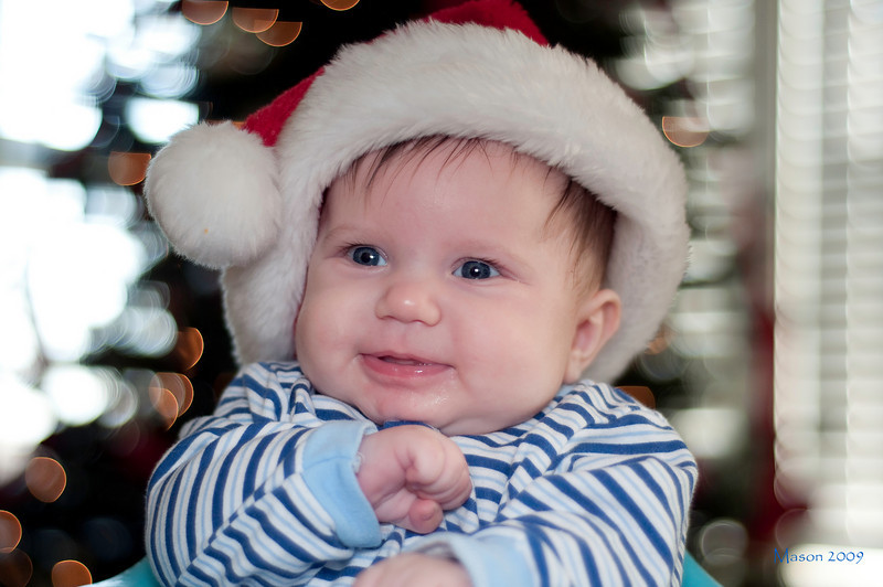 Mason enjoying his 1st Christmas!