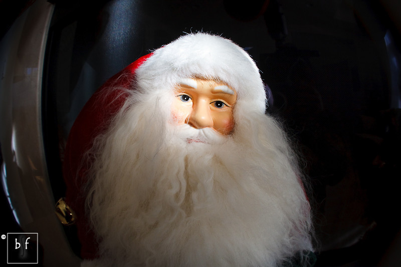 Santa fisheye effect.