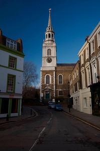 Clerkenwell church Christmas Day