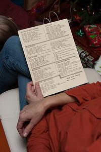 Christmas party lyrics sheets.