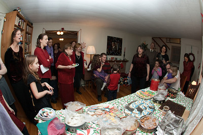 Singing unique christmas carols.