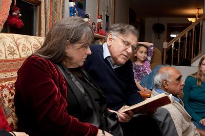 Mom and richard singing carols