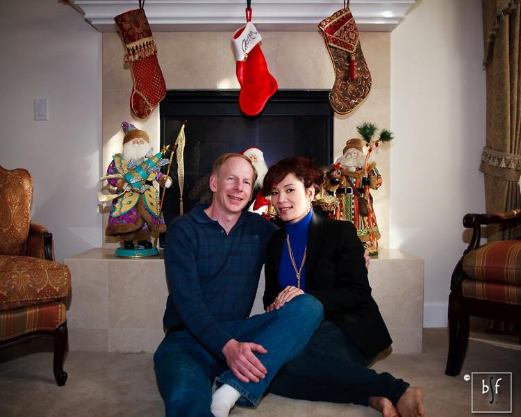 Kent and Dung on Christmas Day.