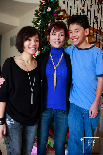 Ly, Dung, and Andrew on Christmas Day.