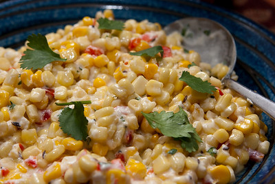 Spiced corn salad.