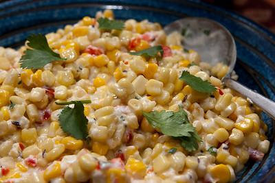Spiced corn salad.