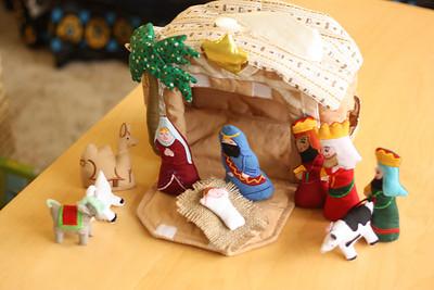 Esther's first nativity set