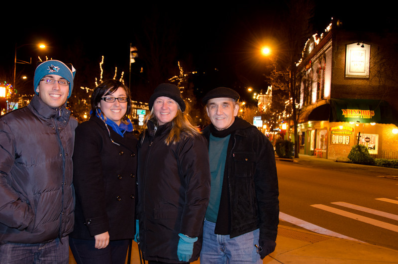 In downtown Ashland on Christmas eve-eve.