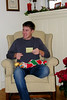 Josh  with this stocking.