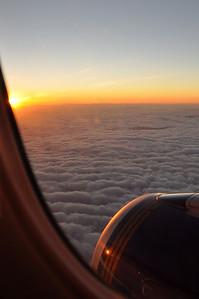 Sunrise flight from Santa Barbara to Colorado