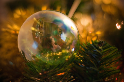 The photographer in the bauble.