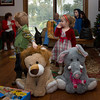 Eli and Ellie with their stuffed toys